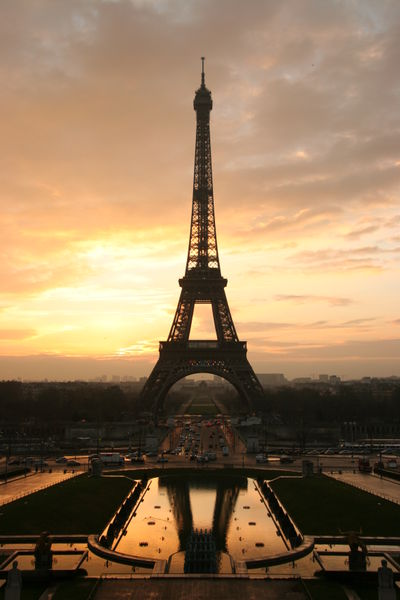 Eiffel Tower with Sunset