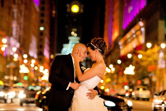 Amanda and Mike on Broad Street - Avenue of the Arts Philadelphia