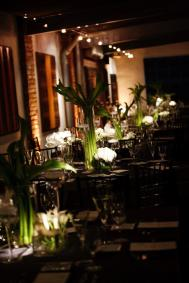 love the design of their tablescapes. Each table had multiple arrangements and candles