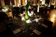 Artesano's upper gallery ready for dinner