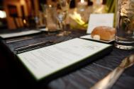 Beautiful menu cards designed by Titus Print