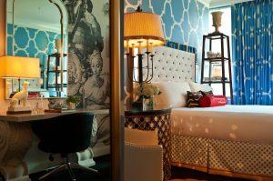 I love their rooms! photo by Hotel Monaco Philadelphia