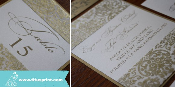 Arts Ballroom Wedding Titus Print Table signs