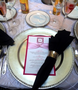 Fabulous place setting(menu designed by Titus Print)