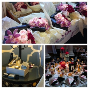 Petah Bashano floral designs, Jimmy Choo, Table setting.