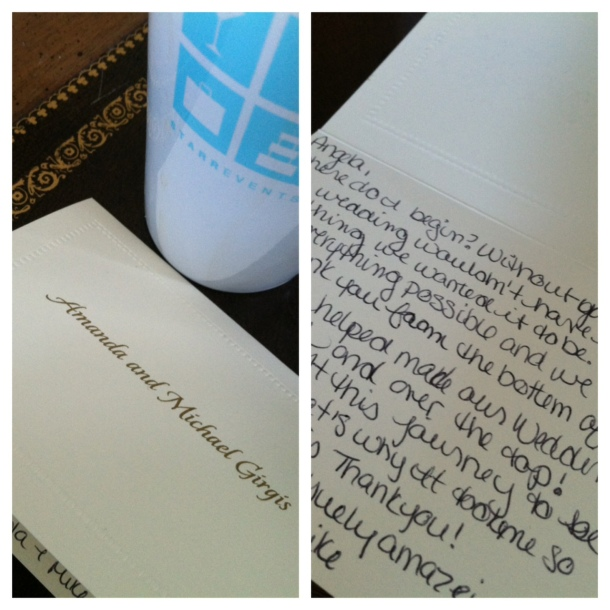 We LOVE thank you notes from our amazing clients