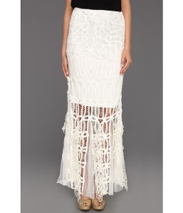 Lace in a maxi skirt