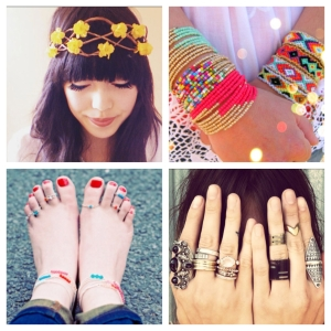 Photo Credit (From left-right) Hannah R Jones 13 ,Etsy, All Free Jewelry Making, Hippie Couture