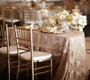 Sweet heart Table with lace overlay