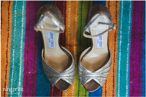 Sparkley Jimmy Choo heels for a perfect wedding day - photo by Nina Price Photography