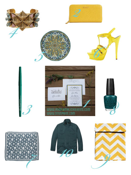 Get inspired with our Malachite and Marigold storyboard for the fall season