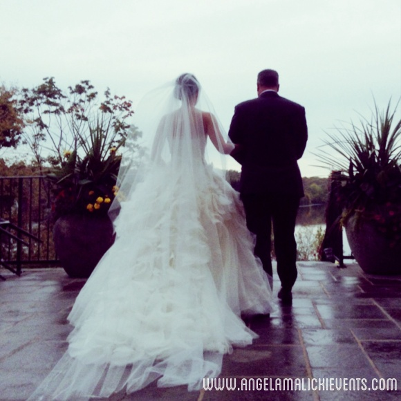 I love this pic of Alex and her dad right before see walks down the petal lined aisle.
