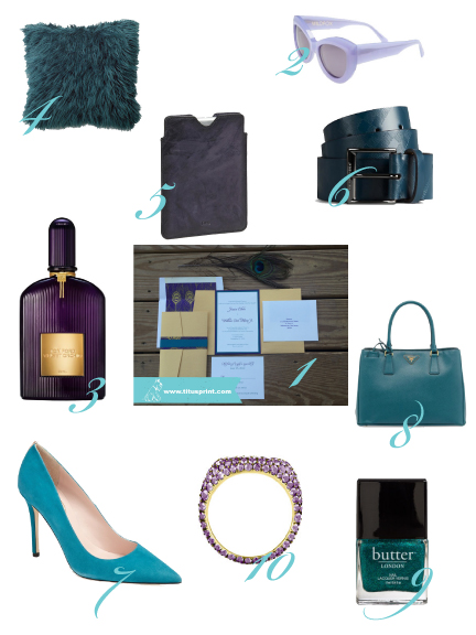 Teal and Purple - rich toned colors for the season.