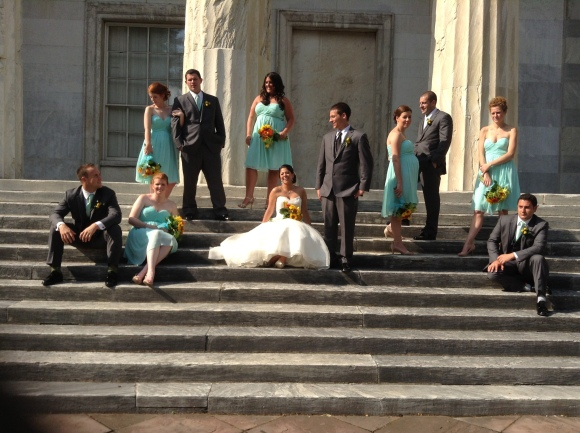 loved the teal dresses the bridesmaids wore, perfect for a summer wedding. Check out Marykate's shoes;) Photo by Angela MALICKI events