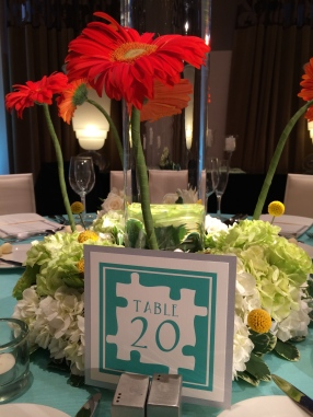 Custom table number design by Titus Print for Angela MALICKI events